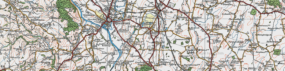 Old map of Hartlebury in 1920