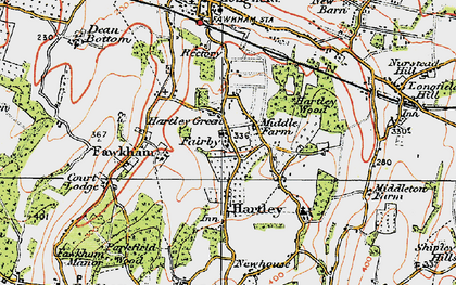 Old map of Hartley in 1920
