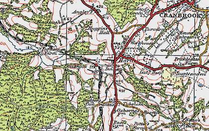 Old map of Badger's Oak in 1921