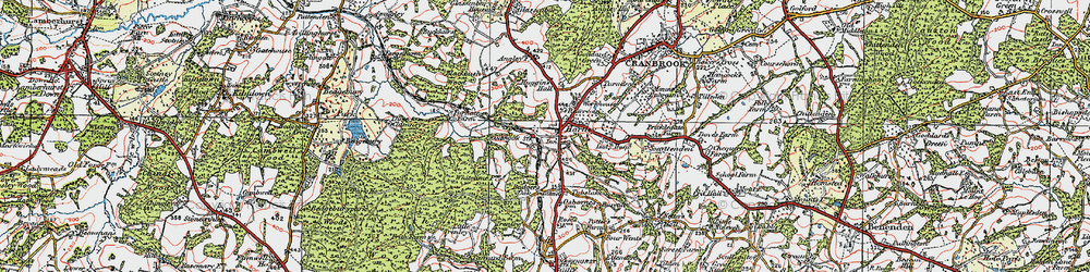 Old map of Hartley in 1921