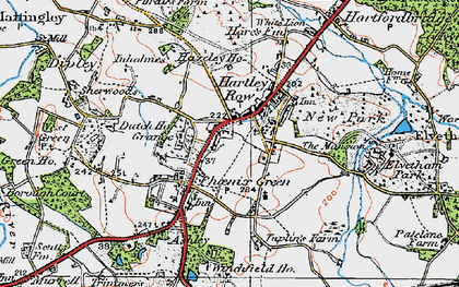 Old map of Winchfield Ho in 1919