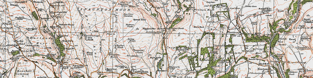 Old map of Abraham's Hut in 1925