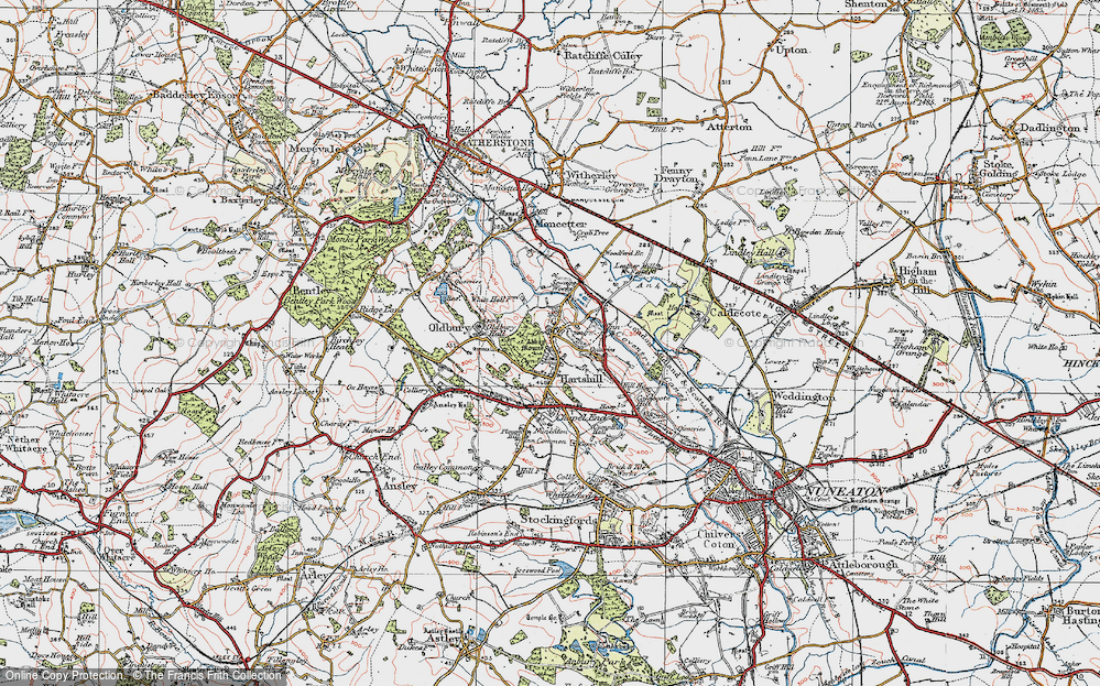 Old Map of Historic Map covering Woodford Br in 1921