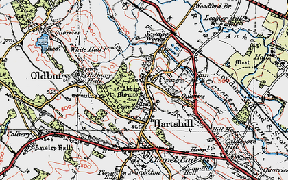 Old map of Woodford Br in 1921