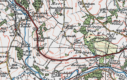Old map of Wilson's Plantn in 1925