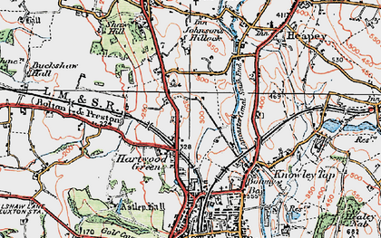 Old map of Astley Hall in 1924