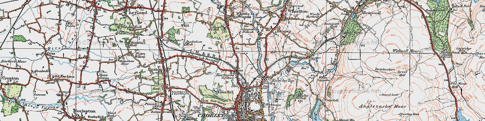 Old map of Hartwood in 1924