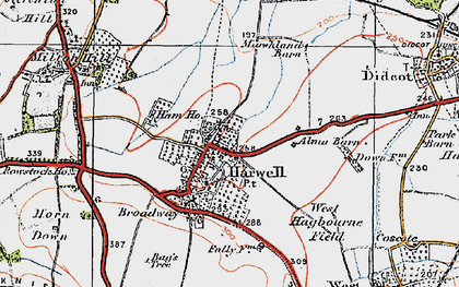 Old map of Harwell in 1919