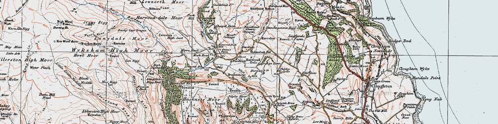 Old map of West Syme in 1925