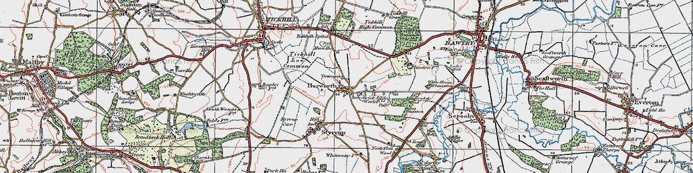 Old map of Harworth in 1923