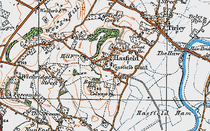Old map of Tirley Court in 1919