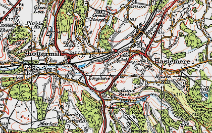 Old map of Haslemere in 1919