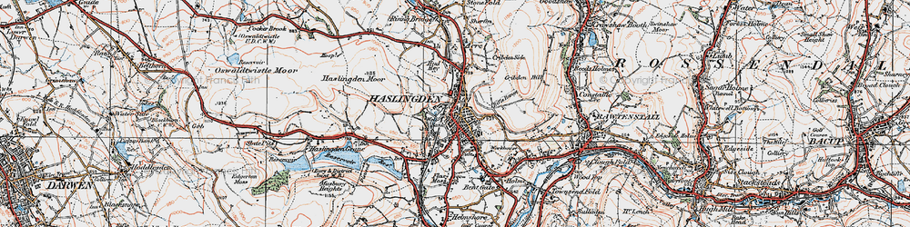 Old map of Haslingden in 1924