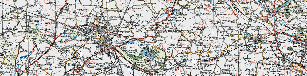 Old map of Haslington in 1923