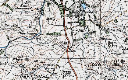 Old map of Wooplaw in 1926