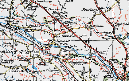 Old map of Hassall Green in 1923