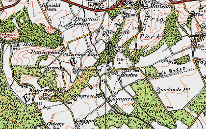 Old map of Hastoe in 1920