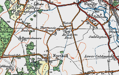 Old map of Hatch in 1919