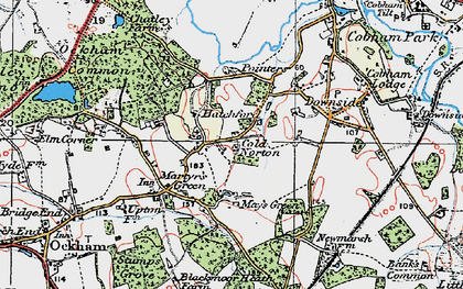 Old map of Hatchford in 1920