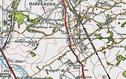 Old map of Limbrick Hall in 1920