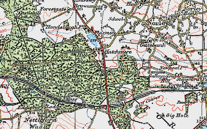 Old map of Linmere Moss in 1923