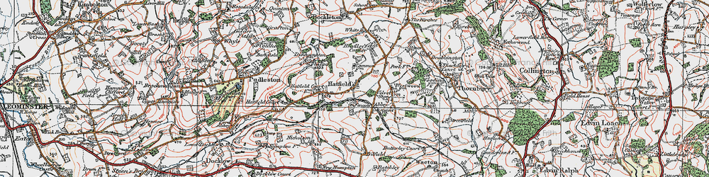 Old map of Westwood Park in 1920