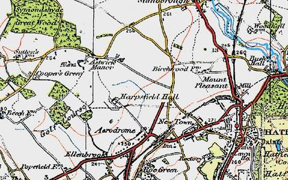 Old map of Hatfield Garden Village in 1920