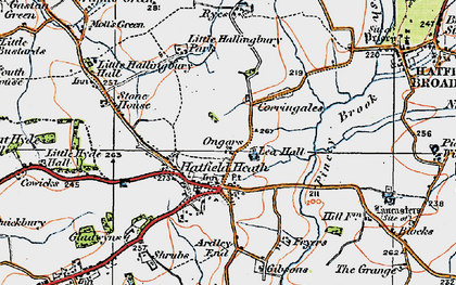Old map of Lea Hall in 1919