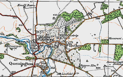 Old map of Williamstrip Park in 1919