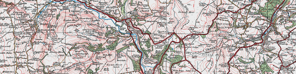 Old map of Winyards Nick in 1923