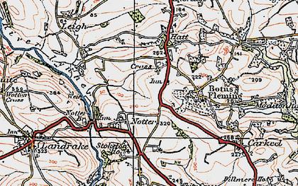 Old map of Hatt in 1919