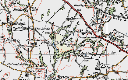 Old map of Atchley Manor in 1921