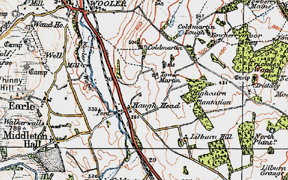 Old map of Lilburn Hill in 1926