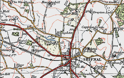 Old map of Aston Coppice in 1921