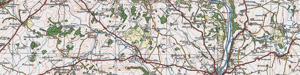 Old map of Aldenham Park in 1921
