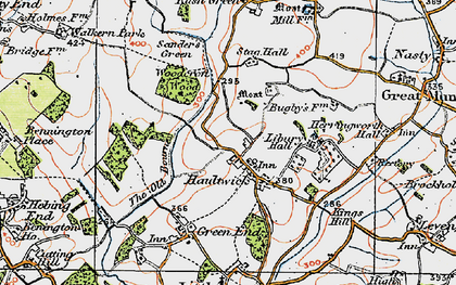 Old map of Haultwick in 1919