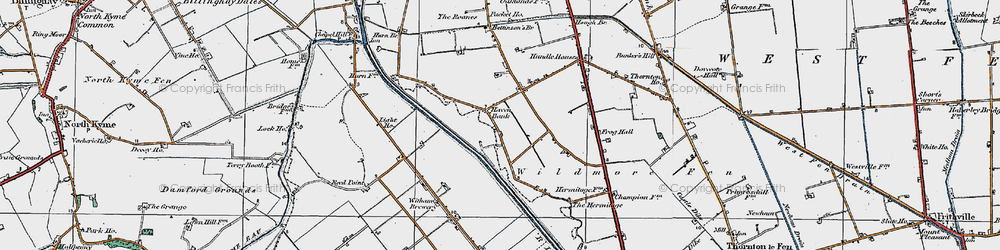 Old map of Witham Brewery in 1922