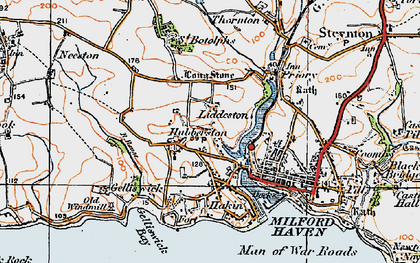 Old map of Havens Head in 1922