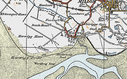 Old map of Haverigg in 1925
