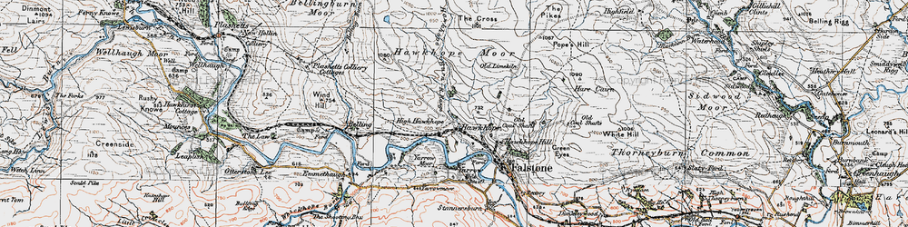 Old map of Wind Hill in 1925