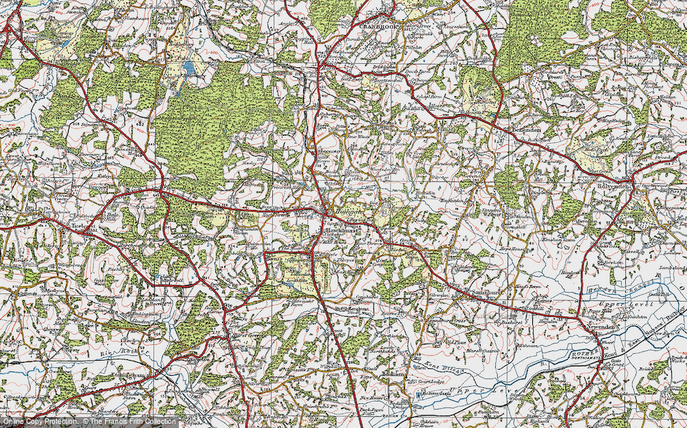 Old Map of Hawkhurst, 1921 in 1921