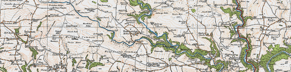 Old map of Whiterocks Down in 1919