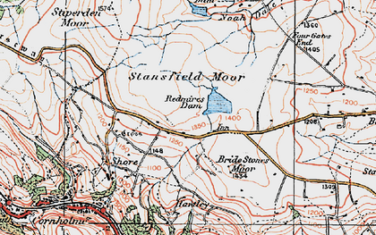 Old map of Four Gates End in 1925