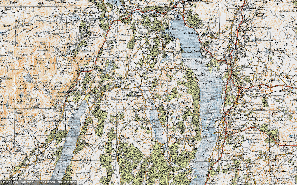 Old Map of Hawkshead, 1925 in 1925