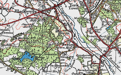 Old map of Hawley in 1919