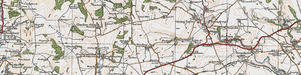 Old map of Windrush Hill in 1919
