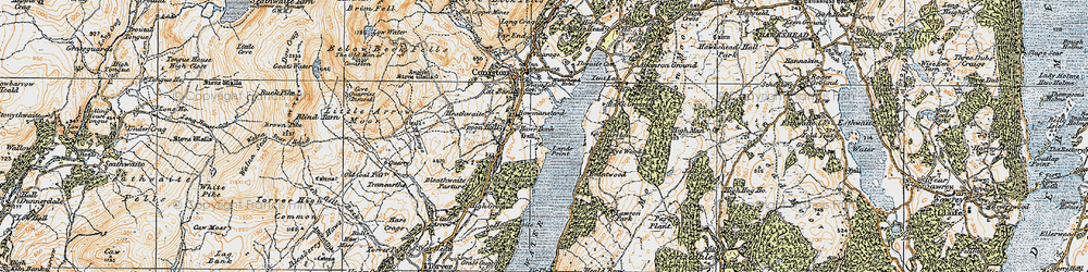 Old map of Thurston in 1925