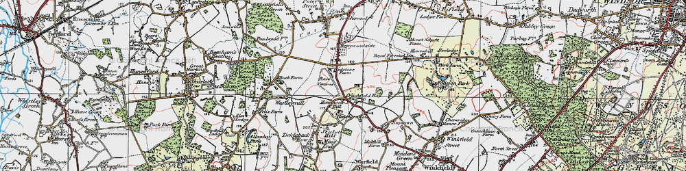 Old map of Hawthorn Hill in 1919