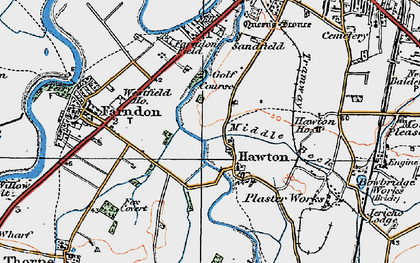 Old map of Hawton in 1921