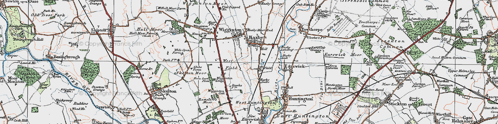 Old map of Wigginton Lodge in 1924